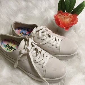 Born white leather sneakers